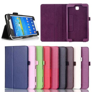 "Folio PU Leather Case Cover Stand For Samsung Galaxy Tab 3 7"" Tablet t211 T210 P3200 Phone cases"
