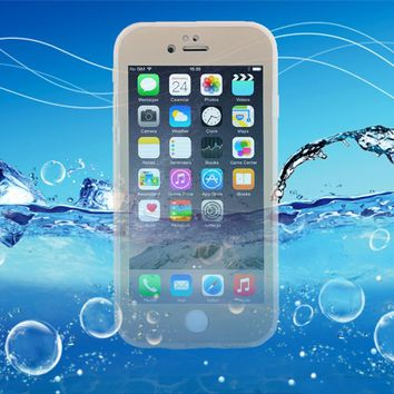 6 6s Waterproof Case For iphone 5 5s SE 6 6S Plus Water Proof Swim Diving Clear 360 Full Protector Front & Back Soft TPU Cover