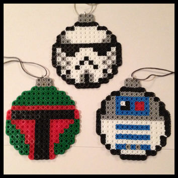 Star Wars Christmas Ball Ornaments Set of 3 by K8BitHero on Etsy