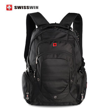 "Swiss Backpack Military Backpack Male Multifunctional 38L Large Travel Bagpack Men's Waterproof 15"" Laptop Backpack Sac a doc"