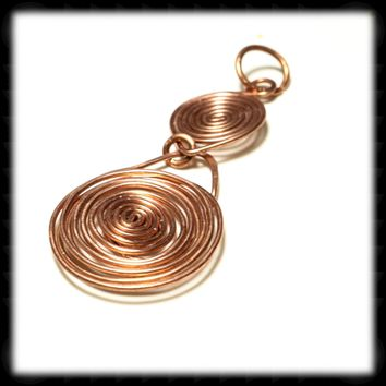 Copper Spiral Pendant