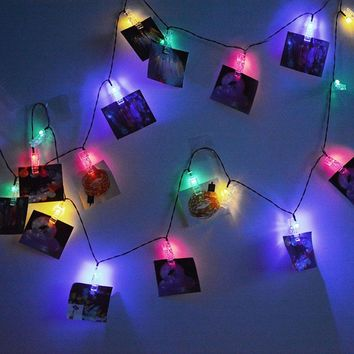 ICOCO 20 LED Solar Power LED Fairy Lights Outdoor IP65 Waterproof Unique Clip-shape String Lights Nice Christmas Decoration Sale