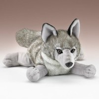 Wildlife Artists Wolf Stuffed Animal Lying Plush Toy