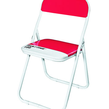 Pantone 186 Ruby Red Metal Folding Chair (Set of 4) by Seletti