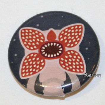 "Licensed cool Netflix Stranger Things DEMOGORGON Monster 1 1/4"" Pin Button Licensed NEW"