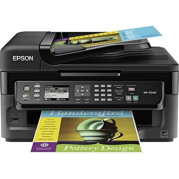 Epson - WorkForce WF-2540 Network-Ready Wireless All-In-One Printer