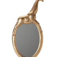 Gold Safari Giraffe Wall Mirror