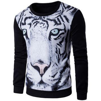 Harajuku style men/women's 3D graphic sweatshirts funny print tiger pizza lion novelty crewneck sweat shirts pullover hoodie