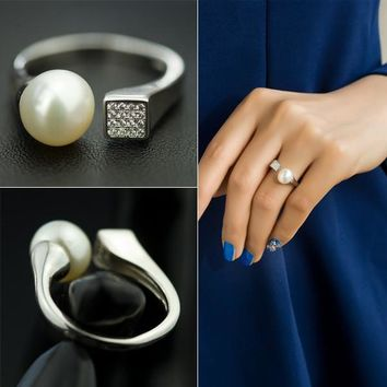 New Arrival Shiny Gift Jewelry Pearls 925 Silver Stylish Accessory Ring [7204782791]