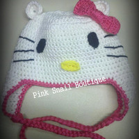Toddler/Child Hello Kitty Earflap Hat