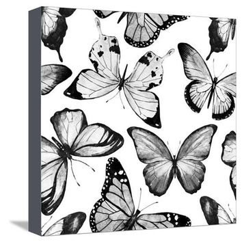 Watercolor Butterfly Pattern Art Print by Zenina at Art.com