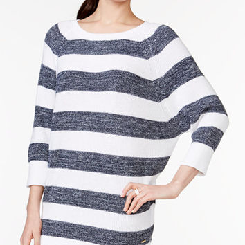 Tommy Hilfiger Lisa Striped Batwing-Sleeve Sweater - Sweaters - Women - Macy's