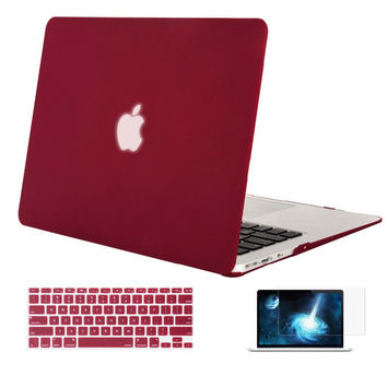 Mosiso for Macbook Air 13 13.3 inch multi color Notebook Hard Shell Cover Case + Keyboard Cover+Screen protector