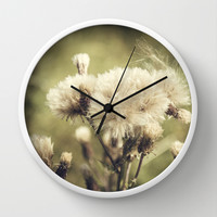 Flowers Wall Clock by Architect´s Eye | Society6