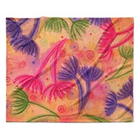 "Ebi Emporium ""Cow Parsley"" Fleece Throw Blanket"