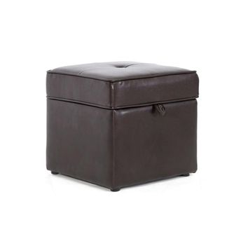 Sydney Brown Modern Ottoman - Storage Ottoman By Baxton Studio