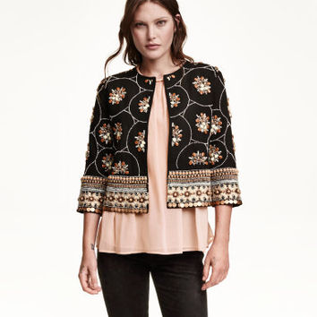 H&M Jacket with Beaded Embroidery $129