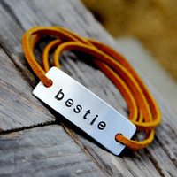 Custom Personalized Leather Wrap Bracelet
