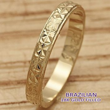 Gold Layered Men and Women Elegant Ring, by Folks Jewelry