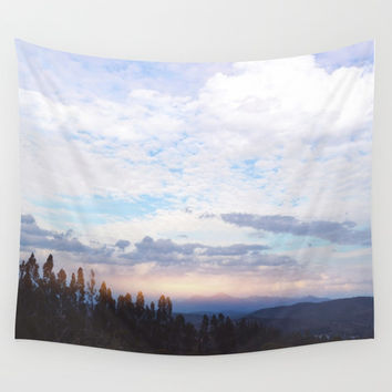 Landscape & Clouds Wall Tapestry by Marco Gonzalez