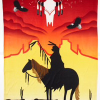Polar Fleece Blanket, Sunset Warrior