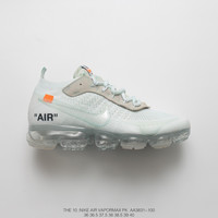 [ Free  Shipping ] OFF-WHITE x Nike Air VaporMax 2.0 Running  Shoes