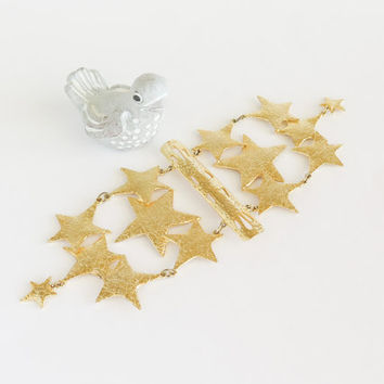 ULTRA CRAFT Golden Star Shoulder Brooch Pin