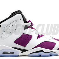 air jordan 6 retro gg (gs) - white/vivid pink-brght grp-blk - Air Jordan 6 - Air Jordans | Flight Club