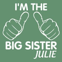 Personalized Children kids t-shirt. Personalized Big sister t-shirt. I'm the Big sister. Toddler t-shirt. T-shirt for girls Sibling T-Shirts