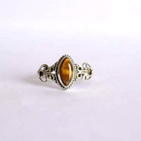 Tiger eye stone ring, silver ring,  silver Tiger eye ring, stone ring, 92.5 sterling silver, Natural Tiger eye Silver Ring, RNSL37