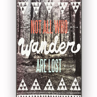 Tolkien Quote Not All Who Wander Are Lost for iPhone 4/4S Case **