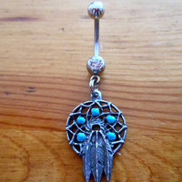 Belly ring - Dream Catcher belly button ring