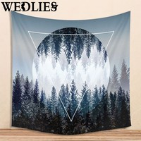 150X130cm Forest Indian Mandala Wall Hanging Tapestry Bohemian Dorm Bedspread Throw Mat Yoga Mat Home Room Decor Textiles