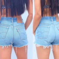 Levi High waisted cut off shorts 90's clothing
