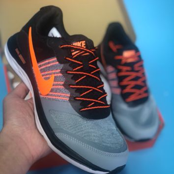 DCCK N483 Nike Dual Fusion X Light Breathable Running Shoes Grey Orange