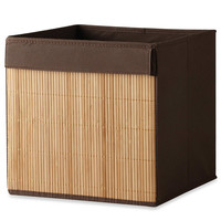 Real Simple® Brown Fabric Bin with Bamboo Front
