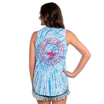 Salt Washed Tie Dye Tank in Little Boy Blue by The Southern Shirt Co. - FINAL SALE
