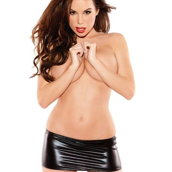 Naughty Kitten Vinyl Mini Skirt