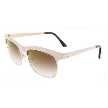 Tom Ford Ivory/Gold Clubmaster Sunglasses