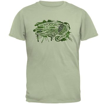 Alligator Swamp Water Splatter Mens T Shirt