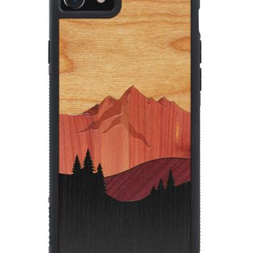 iPhone 7 Mount Bierstadt Inlay Wood Traveler Case by Carved, Unique Real Wooden Phone Cover (Rubber Bumper, Fits Apple iPhone 7)
