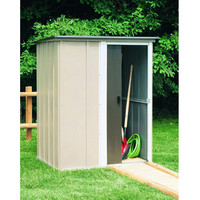 Outdoor Lawn Garden Tool Storage Shed - 4-Ft x 5-Ft