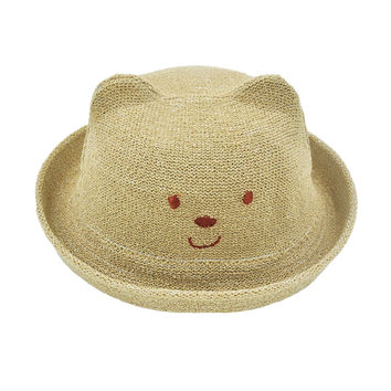 Lovely Straw Hat Sun Hats Cap For Kids/Toddler/Baby Unisex - Light Coffee