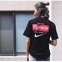 NIKE x Supreme Women Short Sleeve Bowknot Top