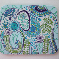 Mouse Pad mousepad / Mat - Rectangle - Pretty Elephant coworker friend gift desk office accessory