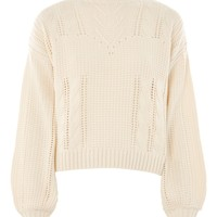 Lingerie Aran Jumper - Sweaters & Knits - Clothing