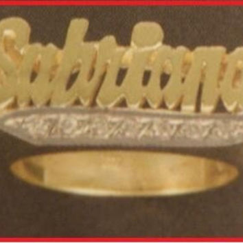 14k gold overly  any Name Rings letters personalized jewelry/gifts/a6