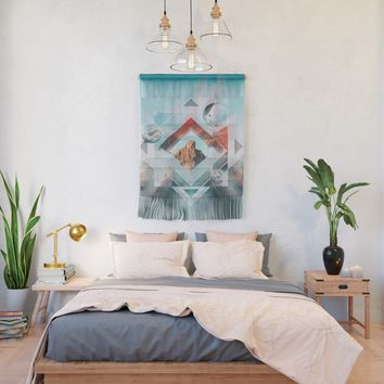 Abstract Geometric Collage Wall Hanging by tmarchev