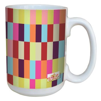 Tree-Free Greetings lm43527 Contemporary Rectangles by Carolyn Gavin Ceramic Mug with Full-Sized Handle, 15-Ounce