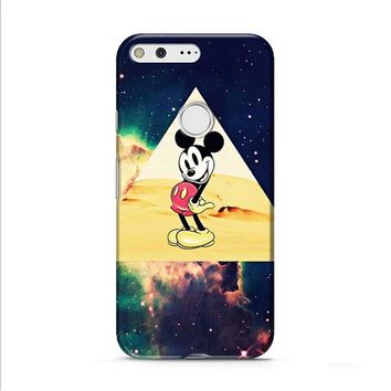 disney Mickey mouse Hipster Triangle Galaxy Google Pixel 2 Case